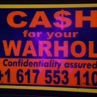 "Part of Mark Chalmer's massive ""Ca$h for your Warhol"" installation."