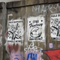 FAILE stencils on a wall on the end of the Willemstraat