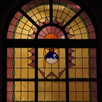 Swan window on the White Swan retirement home