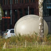 Energy collecting egg for the vegetable garden at Zuid