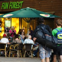 Fun Forest kids obstacle course restaurant