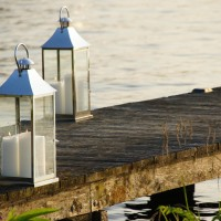 Wedding reception dock on Nieuwe Meer