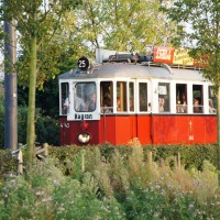 Historic tram on tour