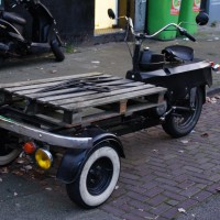 Transport scooter, VW front-end