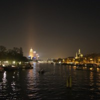 Heading home, Night on the south Amstel at Amstelbrug