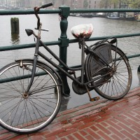Bicycle that was apparently retrieved from the canal