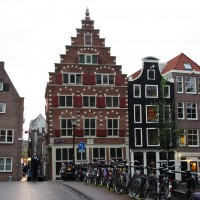 Beautiful architecture in the Red Light district