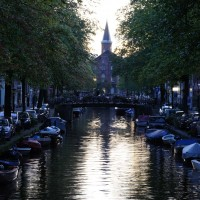 Bloemgracht in the evening