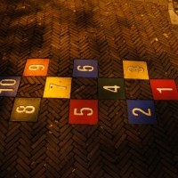Permanent Hopscotch in the street