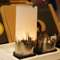 Cityscape tea lights