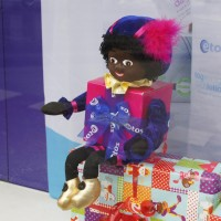 Zwarte Piet in the Etos (drugstore) Window