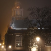 Zuiderkerk in the mist
