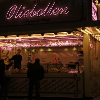 Oliebollen stand at Arena. Beautiful.