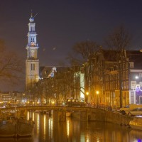 Long HDR (high dynamic range) photo of the Westerkerk on the Prinsengracht
