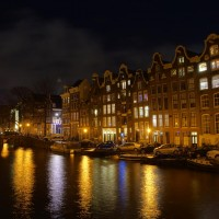 Long HDR exposure of the Prinsengracht from the Reestraat bridge