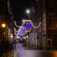 Long exposure HDR (high dynamic range) of Reestraat, one of the 9 streets area.