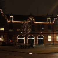 Brandweer - fire station decorated for Christmas