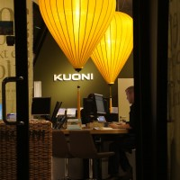 Fantastic lamps in the Kuoni building office