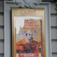 Christmas Circus poster on the front of Carré