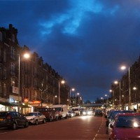 Shops and houses along the Javastraat, very diverse neighbourhood.