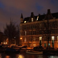 Muiderport and houses along the Alexanderkade