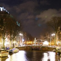 The Herengracht looking east from 7 bridges.