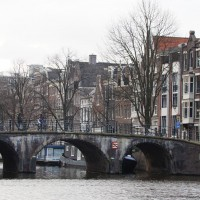 Looking into the Prinsengracht from the Amstel River