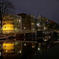 Houses along the inner Amstel