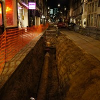 Progress - renewing the pipes along the Utrechtsestraat