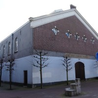 Back entrance to the Holland Manege on the Overtoom side.