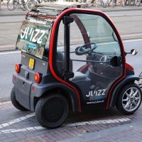 Electric microcar on the Overtoom
