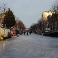 Shot from the ice on the Nieuwe Prinsengracht