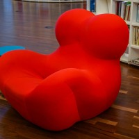 Here's another picture of one of their famous red chairs.