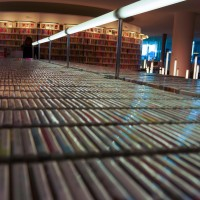 The library has a million cds and a million movies.