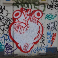Heart grafitti on the Plantage Middenlaan