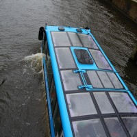 The Floating Dutchman bus comes through Amsterdam 3 times per day.