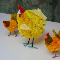 Recycle your plastic bags - into Easter Chickens!!!