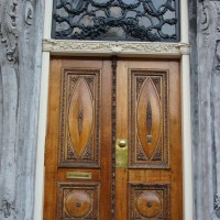 Beautiful doors of a house on the Nieuwe Herengracht