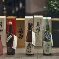 Sake window display