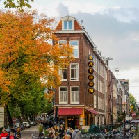 Autumn has arrived in Amsterdam and the Leidseplein area.