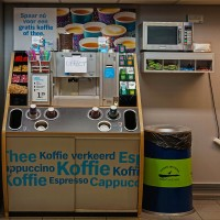 "Albert Heijn ""To Go"" inside the metro station, the saddest part is that the coffee machine is broken. :-("