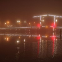 Skinny Bridge (magerebrug) in the fog