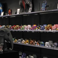 Small reproductions of the actual Elephant Parade entries at the EP shop, Kalverstraat.